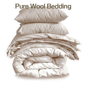 wool and cotton bedding & bamboo bath linens