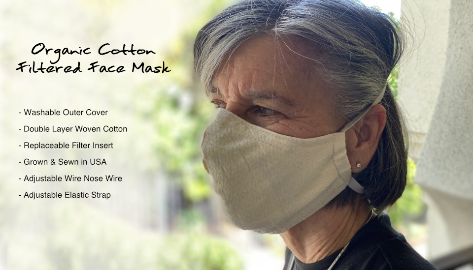 Organic Cotton Filtered Face Mask